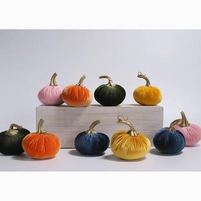10ct Small Velvet Pumpkins - Bullseye's Playground™