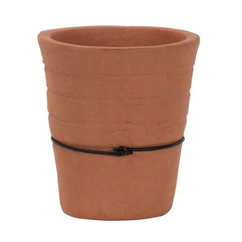 Handmade Terracotta Votive Candle Holder - Foreside Home & Garden - image 1 of 4