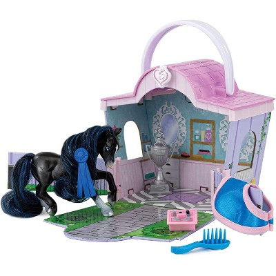 Breyer Animal Creations Breyer Li'l Beauties Fashion Horse Playset | Shimmer's Grooming Salon