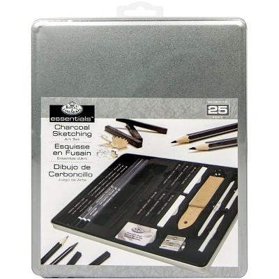 essentials(TM) Medium Charcoal Art Set W/Tin