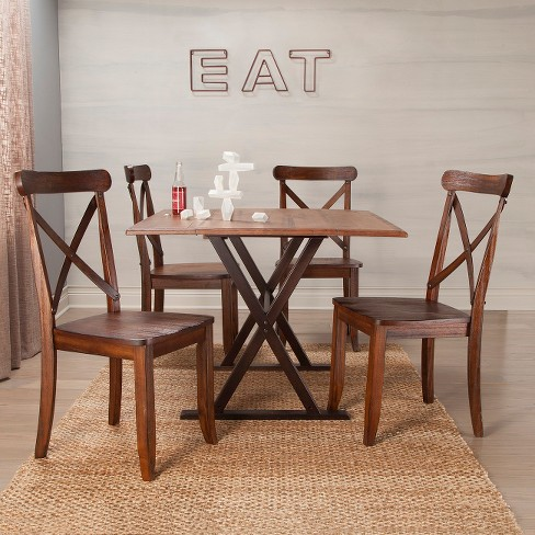 40 Square Drop Leaf Rustic Dining Table Threshold