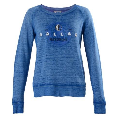 best website 41f3b b2d81 NBA Dallas Mavericks Women's Retro Logo Burnout Crew Neck Sweatshirt