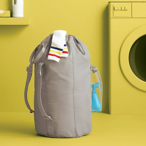 Laundry Bag with Pocket Gray - Room Essentials™ - image 1 of 1