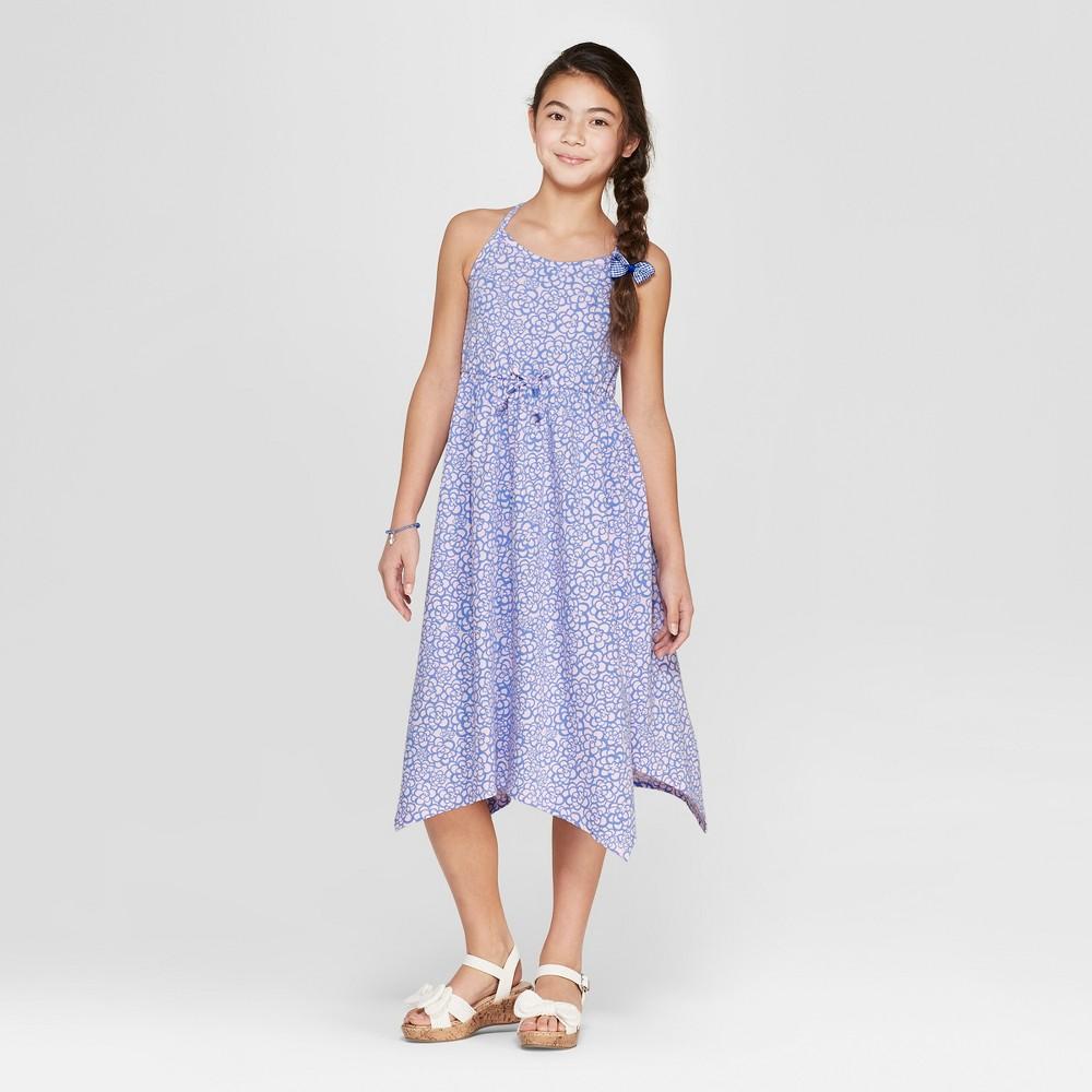 Girls' Floral Print Knit Maxi Dress - Cat & Jack Pink XL