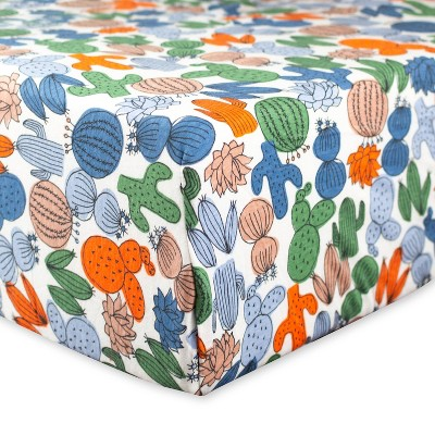 Honest Baby Organic Cotton Fitted Crib Sheet - Cactus