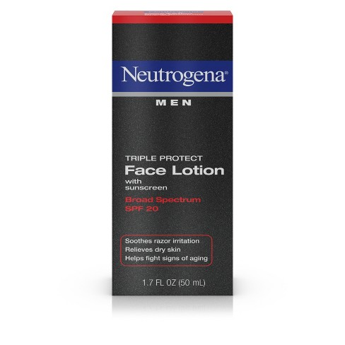 Neutrogena Triple Protect Men's Face Lotion - SPF 20 - 1.7 fl oz - image 1 of 3