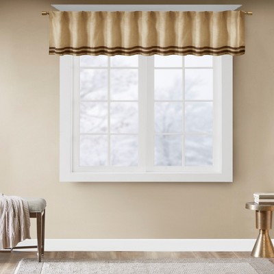 Connell Microsuede Striped Window Valance