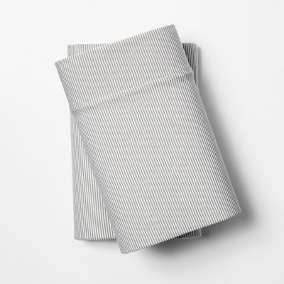 Jersey Pillow Case - (Standard)Gray Stripe - Room Essentials™