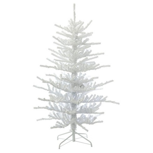 75ft pre lit artificial christmas tree full flocked twig with 500 warm white led lights - White Twig Christmas Tree
