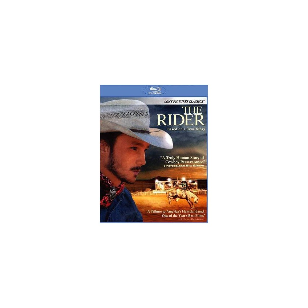 Rider (Blu-ray), Movies A young Native American rodeo cowboy (Brady Jandreau) faces an identity crisis after suffering a near-fatal head injury and being told that he can never ride again. When he takes on the grueling job of training a wild horse he finds it exhilarating, but also a sad reminder that the direction of his life is forever altered. Directed by Chloé Zhao.