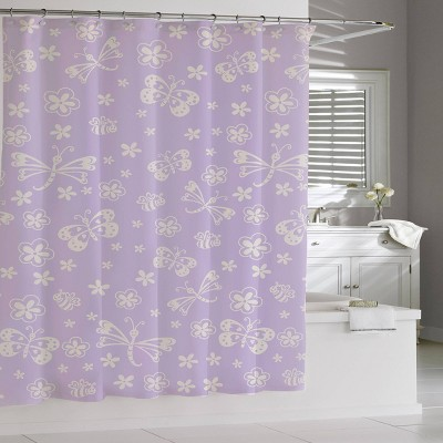 Mariposa Shower Curtain Purple - Cassadecor
