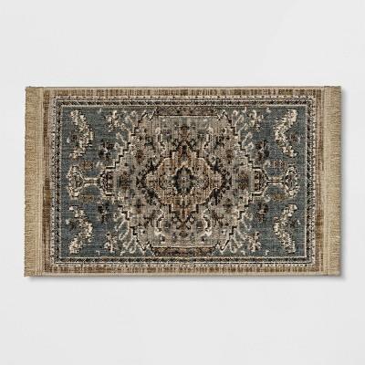 2'x3' Floral Woven Rug Gray - Threshold™