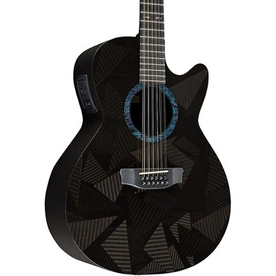 RainSong Black Ice Series WS 12-String Acoustic-Electric Guitar Carbon Black