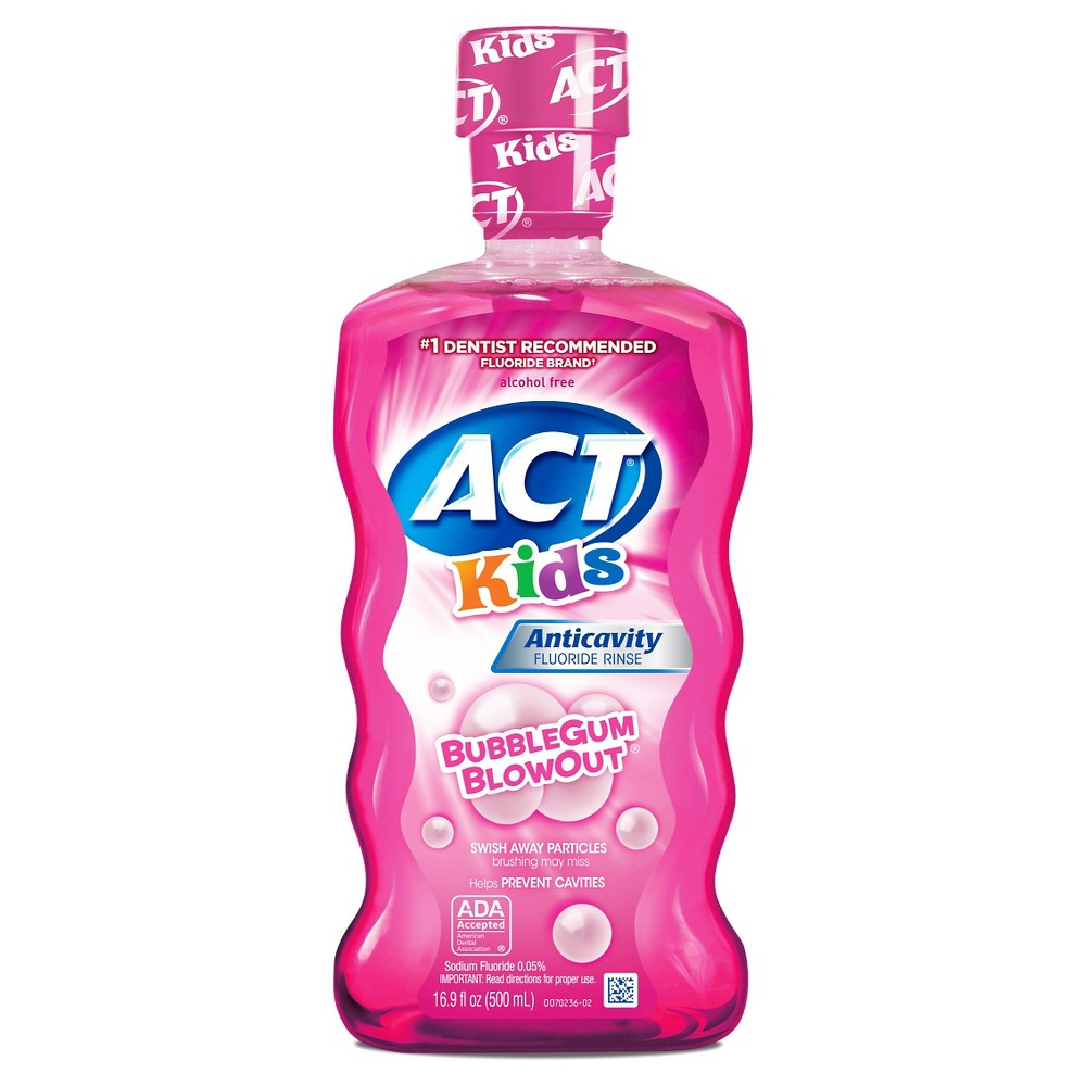 Image of Act Kids Bubblegum Blowout Fluoride Rinse - 16.9oz
