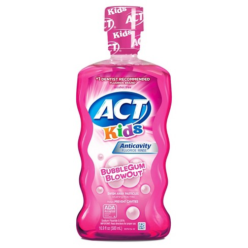 Act Kids Bubblegum Blowout Fluoride Rinse - 16.9oz - image 1 of 2