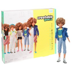 Creatable World Deluxe Character Kit Customizable Doll - Blonde Curly Hair