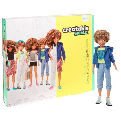 Creatable World Deluxe Character Kit Customizable Doll - Blonde Curly Hair - image 1 of 4
