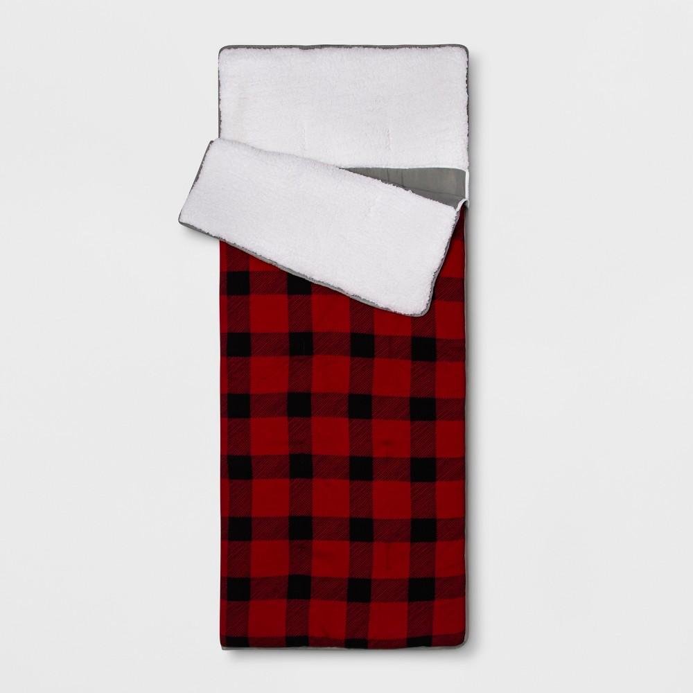 Plaid Sleeping Bag Red - Pillowfort