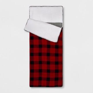 Plaid Sleeping Bag Red - Pillowfort™