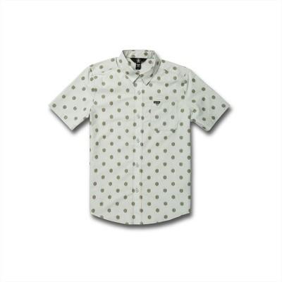 Volcom Boys Macro Dot Button Up Short Sleeve Shirt