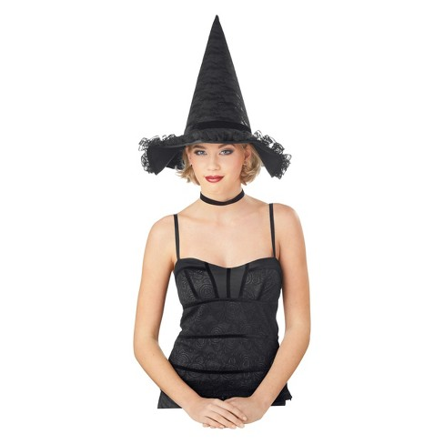 Women's Deluxe Costume Witch Hat with Bow - Hyde and Eek! Boutique™ - image 1 of 1