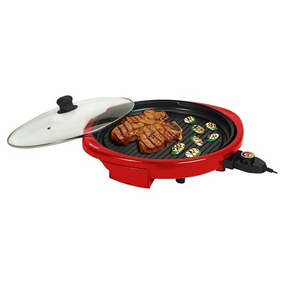 Elite Gourmet 14  Electric Indoor Grill - Red