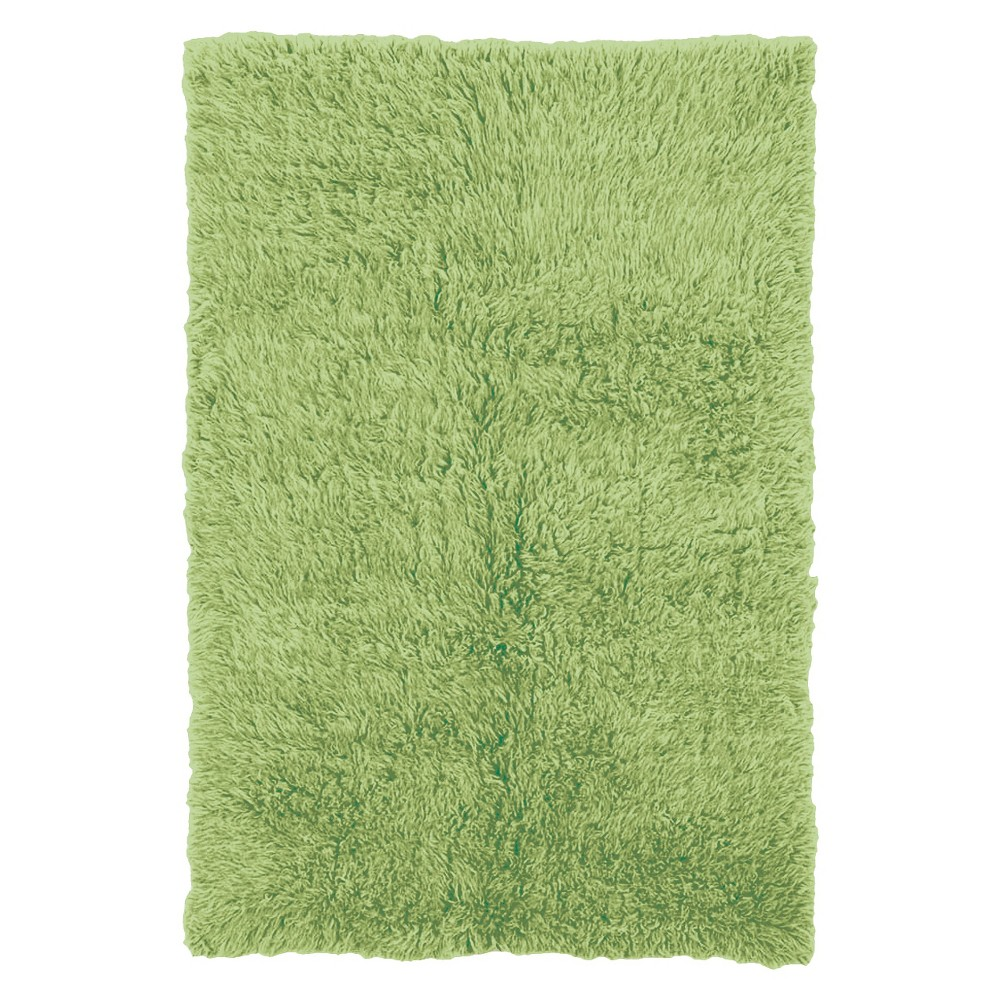 Image of 100% New Zealand Wool Flokati Accent Rug - Lime Green (2'X6')