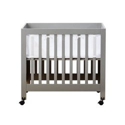 BreathableBaby Portable & Cradle Crib Mesh Liner - White