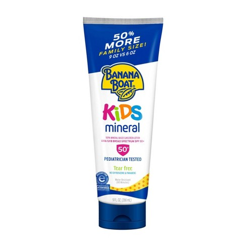 Banana Boat Kids 100% Mineral Sunscreen Lotion - SPF 50 - 9oz - image 1 of 4