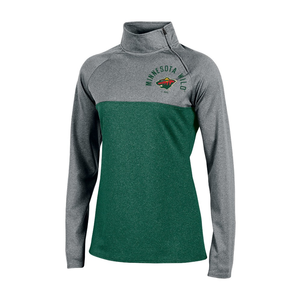 Minnesota Wild Women's Quarter Zip Pullover - Gray S