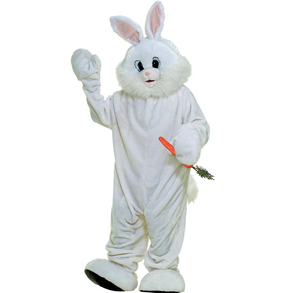Adult Plush Bunny Mascot Costume One Size, Adult Unisex