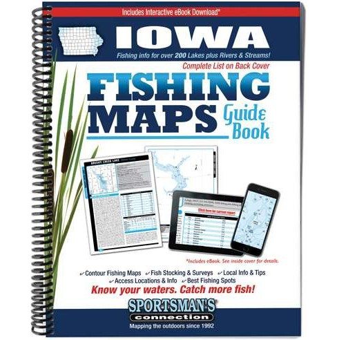 Iowa Fishing Map Guide (Paperback) - image 1 of 1
