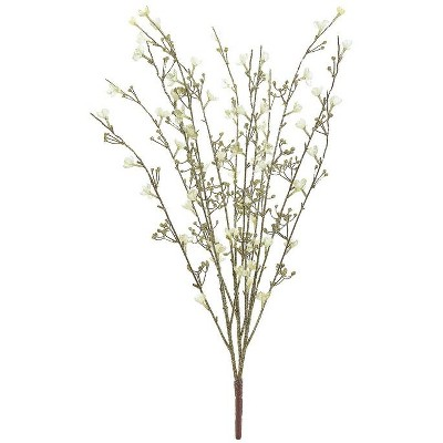 """Northlight 32"""" Brown and Gold Glittered Blossom Bush Artificial Christmas Spray"""