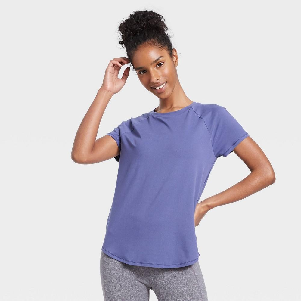 Women 39 S Essential Crewneck Short Sleeve T Shirt All In Motion 8482 Grape L