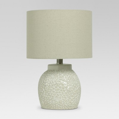Floral Textured Ceramic Accent Lamp Shell (Lamp Only)- Threshold™