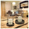 Stonebriar Industrial Metal Cage Cloches with Rustic Wooden Candle Holder Base - Set of 2 - image 3 of 3