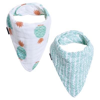 Bebe au Lait ® Muslin Bandana Bib Set 2pk - Oahu/Zig-Zag
