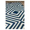 Navy Indoor/Outdoor Geometric Rug - image 2 of 4