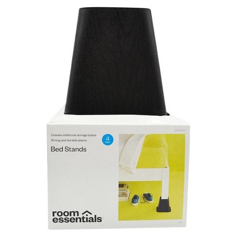 Bed Risers Espresso 4pk - Room Essentials™ : Target