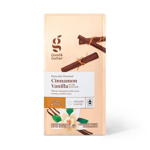 Naturally Flavored Cinnamon Vanilla Light Roast Ground Coffee - 12oz - Good & Gather™ - image 1 of 3