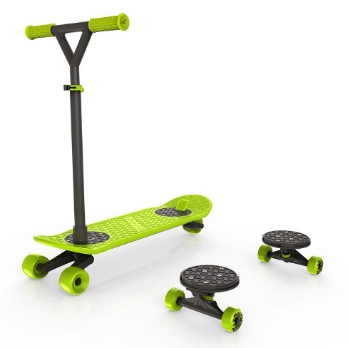 morfboard scooter skateboard combo set chartreuse target