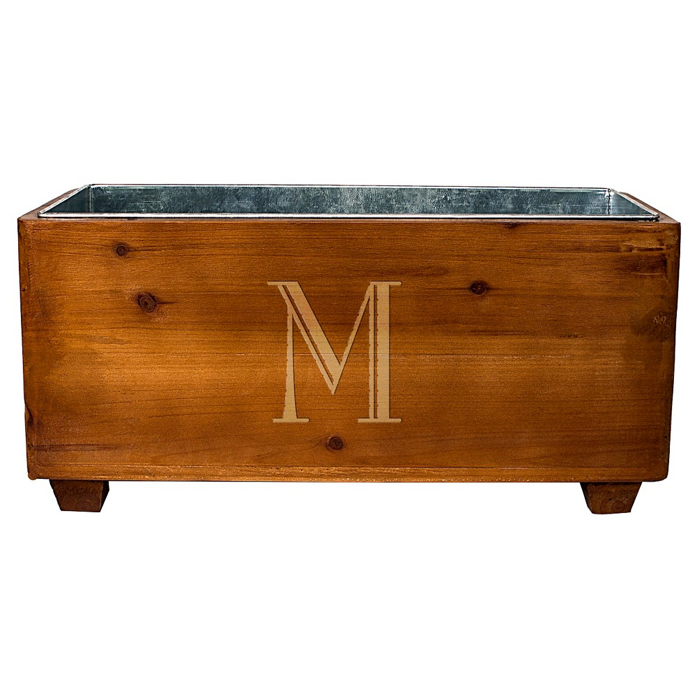 Cathy's Concepts Personalized Wooden Wine Trough - M, Brown