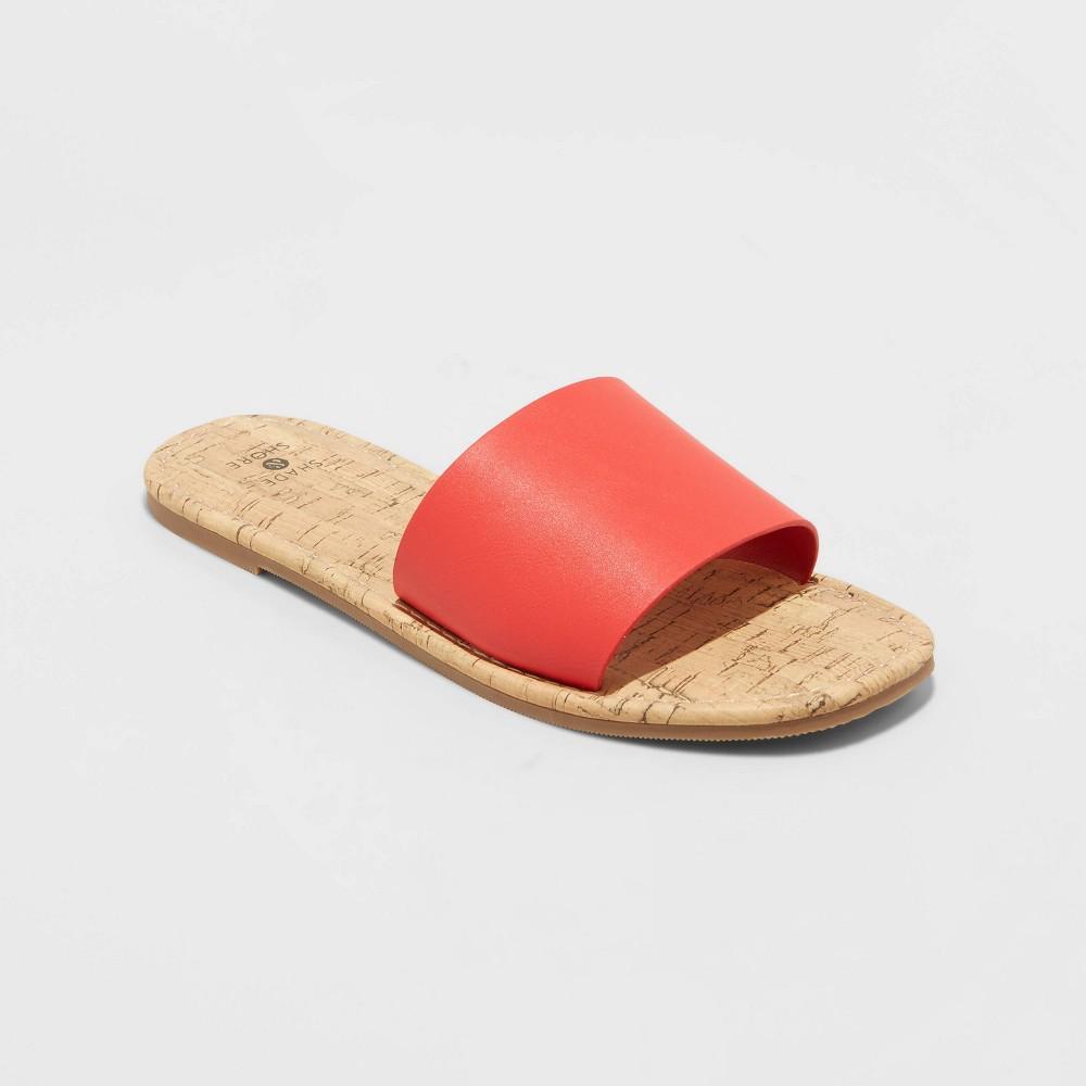 Women 39 S Melany Square Toe Slide Sandals Shade 38 Shore 8482 Pink 5