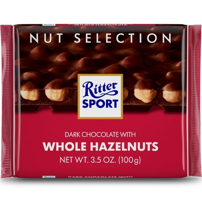 Ritter Sport Dark Chocolate with Whole Hazelnuts Chocolate Bar - 3.5oz
