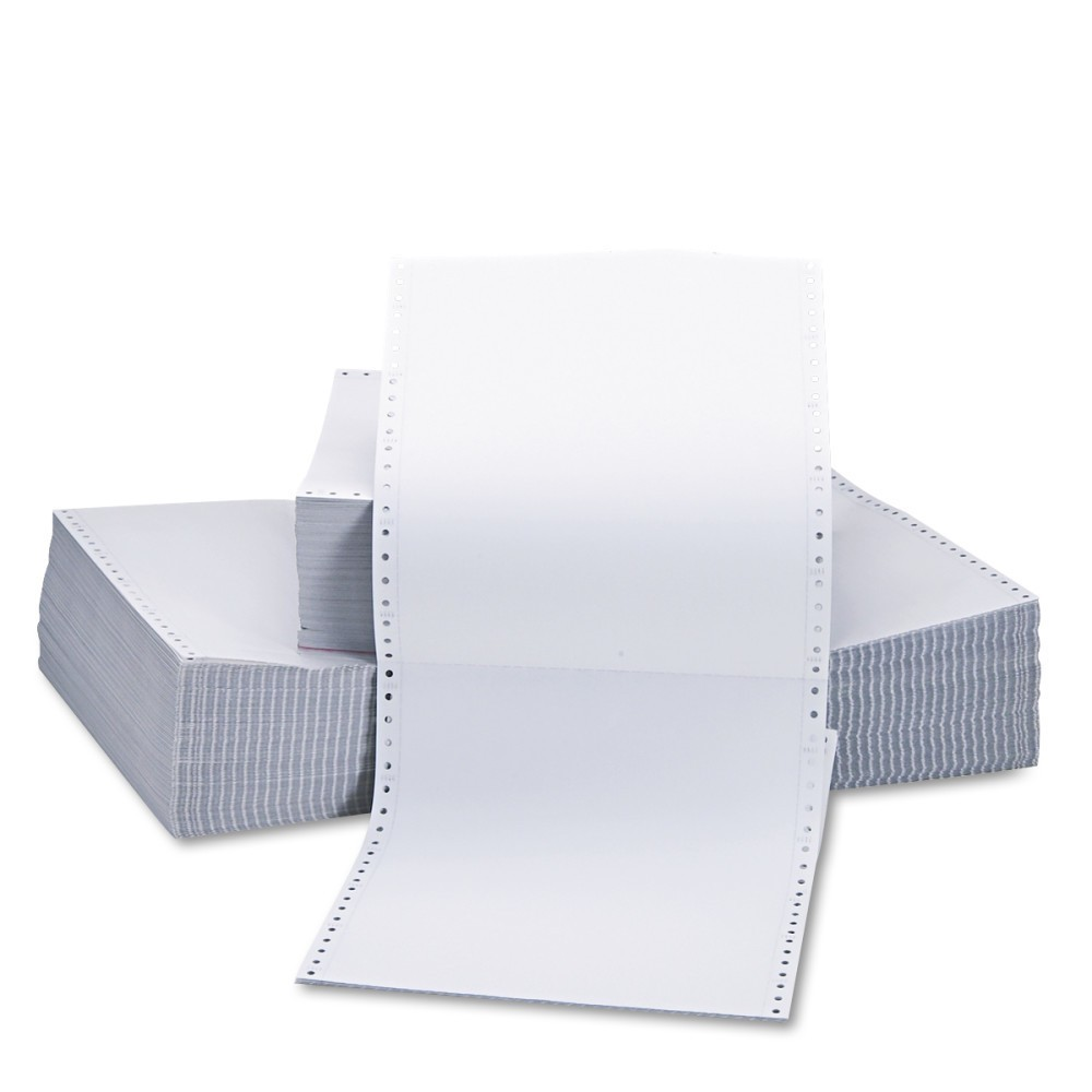 Universal Two-Part Carbonless Paper, 15lb, 9-1/2 x 11, Perforated, White, 1650 Sheets (15703)