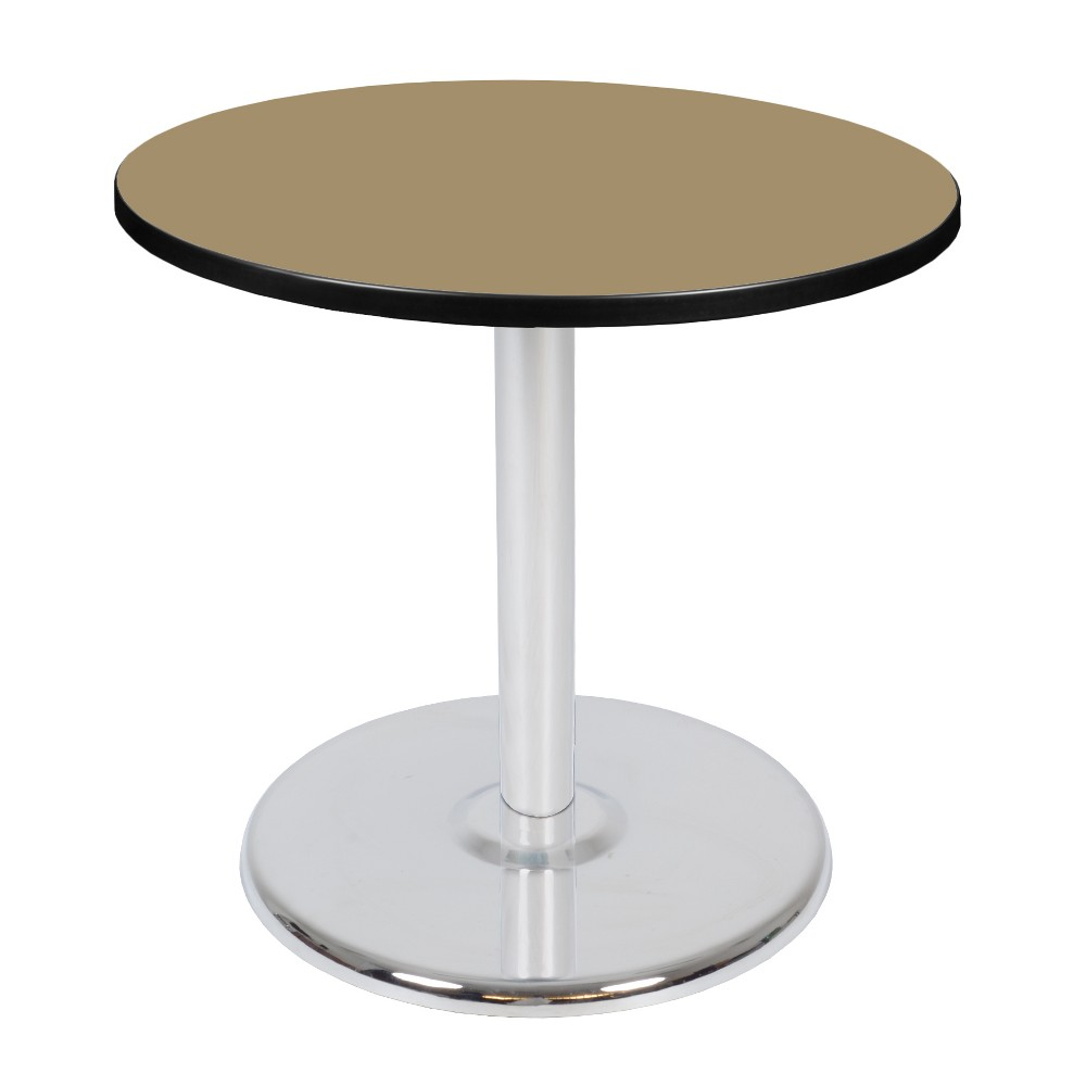 30 Via Round Platter Base Table Gold/Chrome (Gold/Grey) - Regency