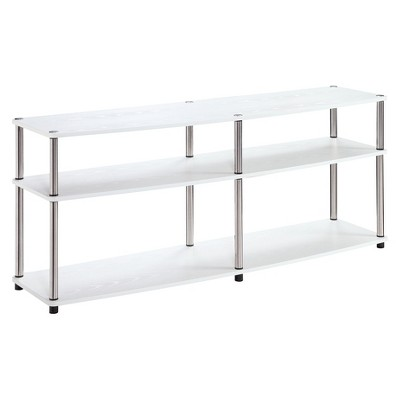 "3 Tier 60"" TV Stand - White - Convenience Concepts"