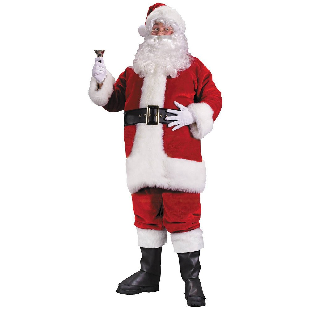 Image of Halloween Men's Santa Suit Costume X-Large, Red