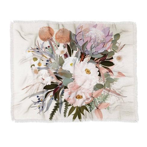 Iveta Abolina Antonia Woven Throw Blanket Green - Deny Designs - image 1 of 2