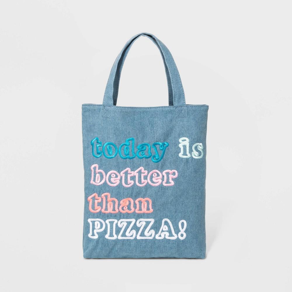 Kids' Pizza Tote Bag - Cat & Jack Blue, Kids Unisex, Size: Small